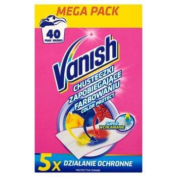Vanish Color Protect Chusteczki zapobiegające farbowaniu 40 prań (20 sztuk) (2)