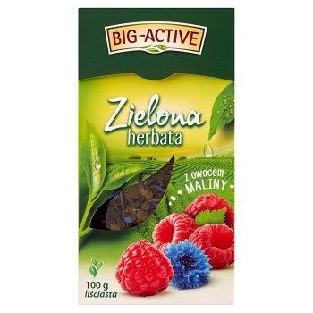 Big-Active Zielona herbata liściasta z owocem maliny 100 g (2)