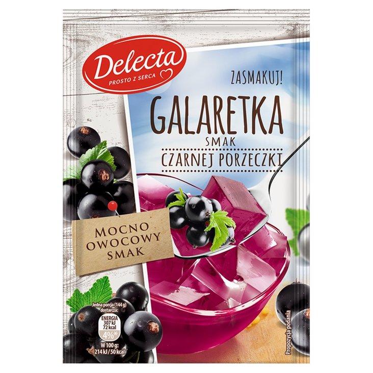 Delecta Galaretka smak czarnej porzeczki 75 g (1)
