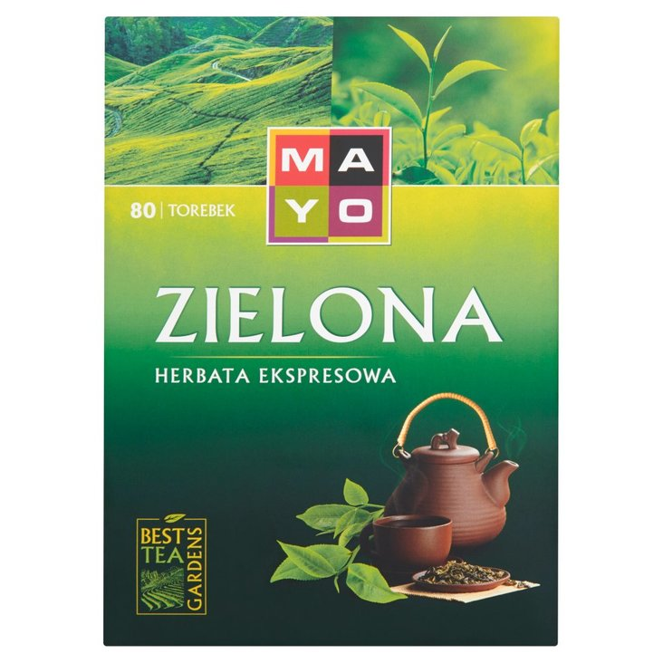 Mayo Zielona Herbata ekspresowa 136 g (80 torebek) (2)