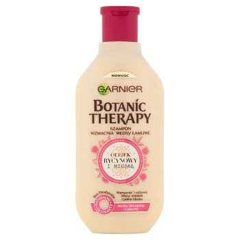 Garnier Botanic Therapy Szampon do włosów osłabionych i łamliwych Olejek rycynowy i migdał 400 ml (1)