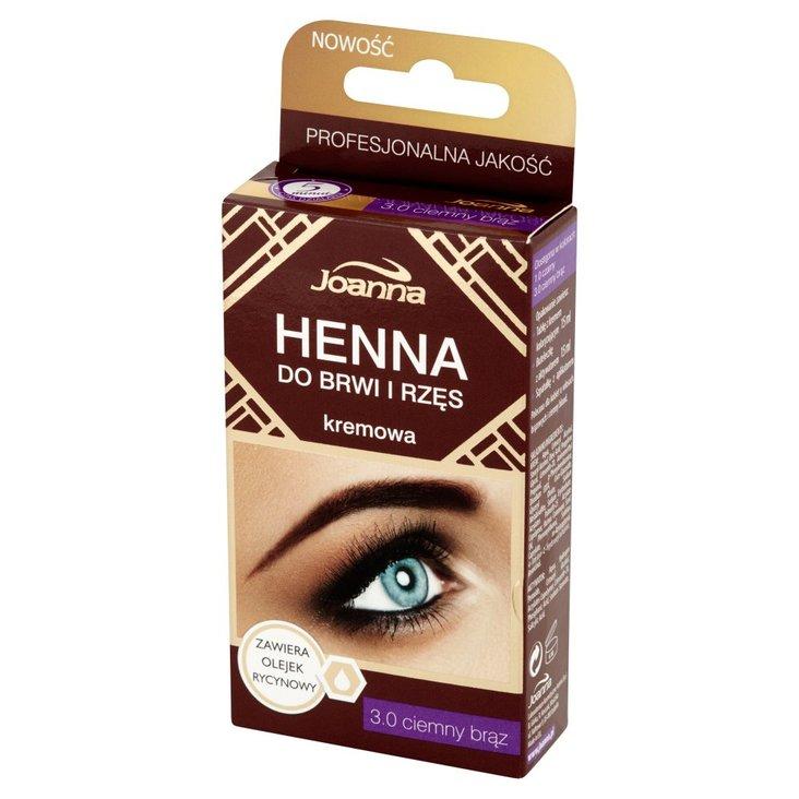 Joanna Henna do brwi i rzęs kremowa 3.0 ciemny brąz (1)