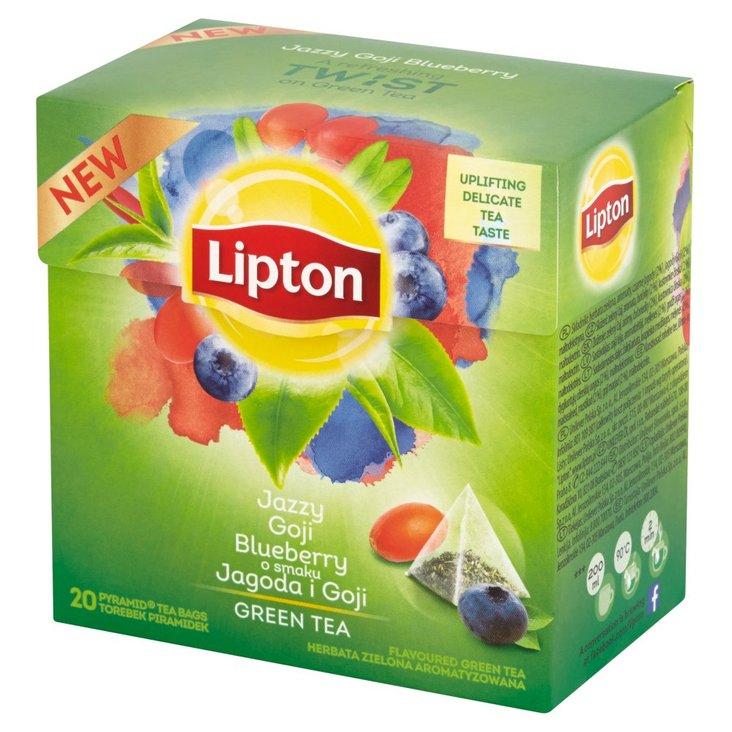 Lipton o smaku Jagoda i Goji Herbata zielona aromatyzowana 28 g (20 torebek) (1)