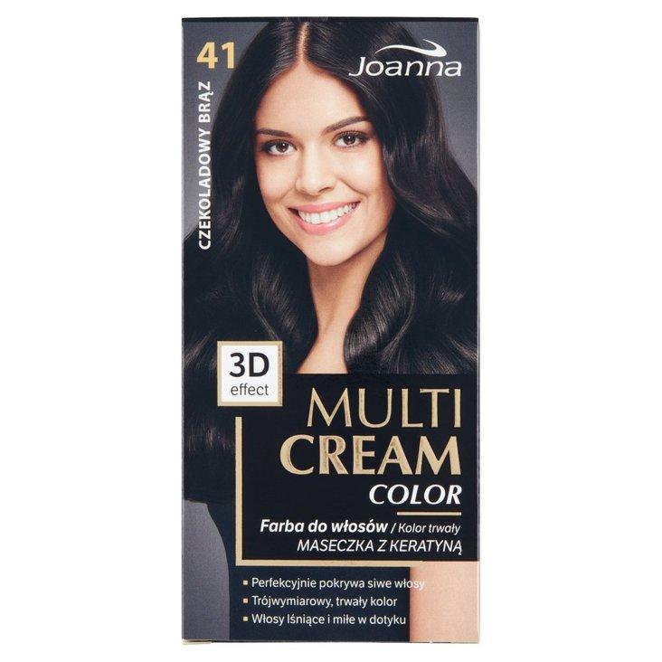 Joanna Multi Cream Color Farba do włosów czekoladowy brąz 41 (2)