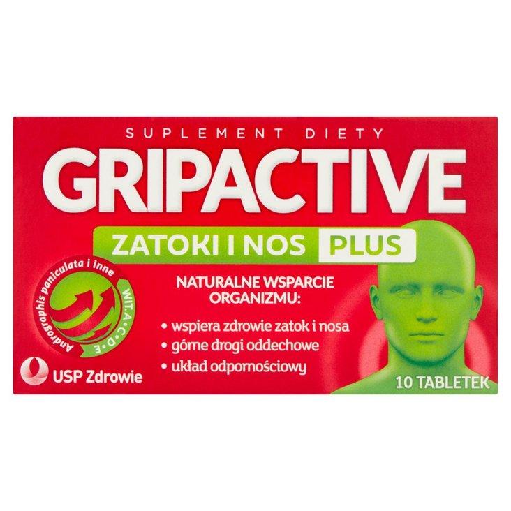 Gripactive Suplement diety zatoki i nos plus 10 sztuk (2)