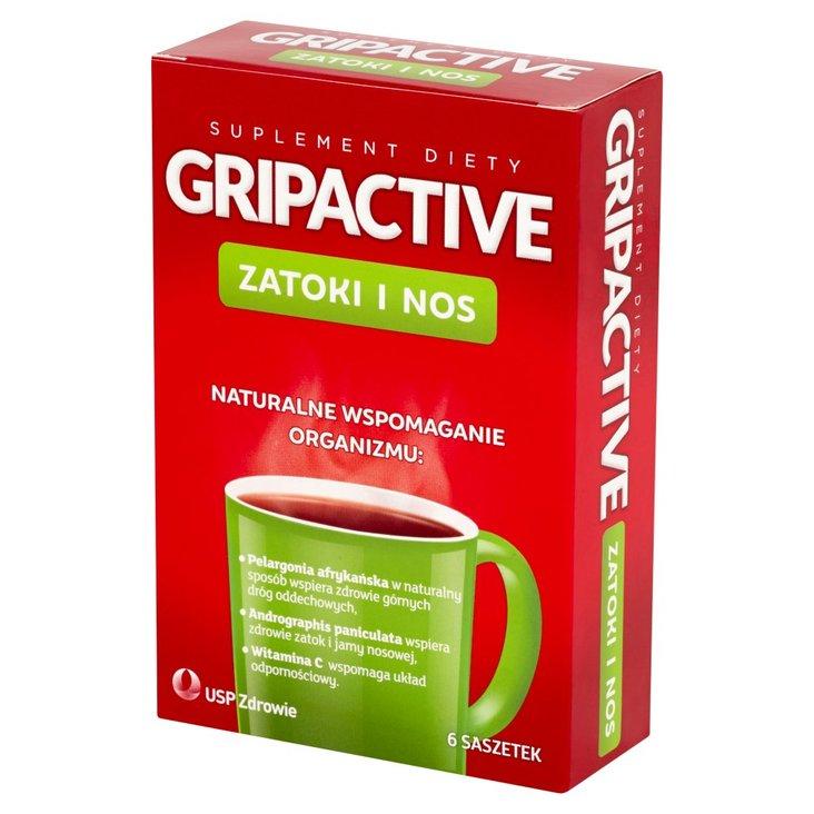 Gripactive Zatoki i nos Suplement diety 6 saszetek (1)