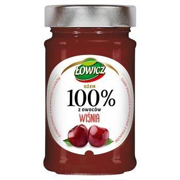 Łowicz Dżem 100% z owoców wiśnia 220 g (1)