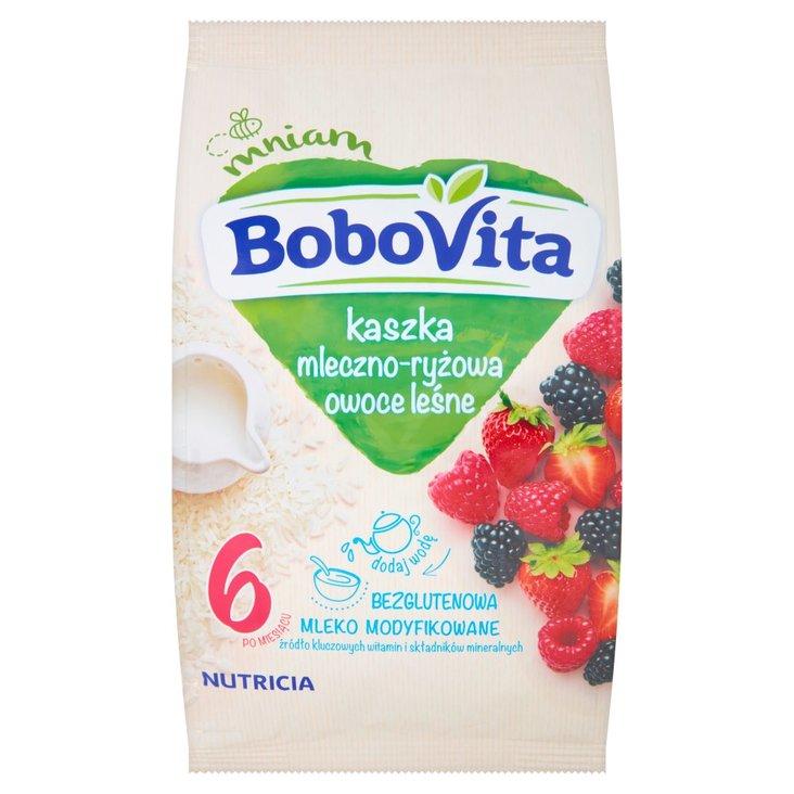 BoboVita Kaszka mleczno-ryżowa owoce leśne po 6 miesiącu 230 g (2)