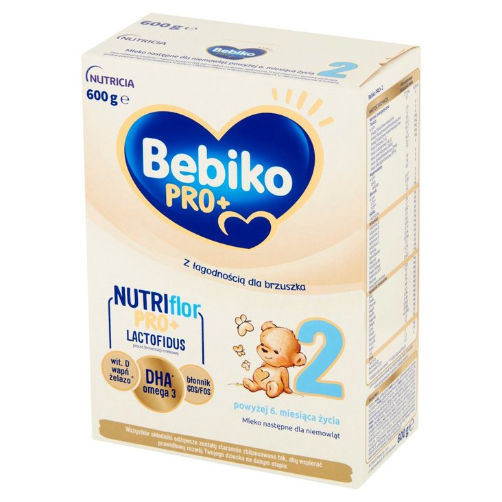 Bebiko Pro+ 2 Mleko następne dla niemowląt powyżej 6. miesiąca życia 600 g (1)