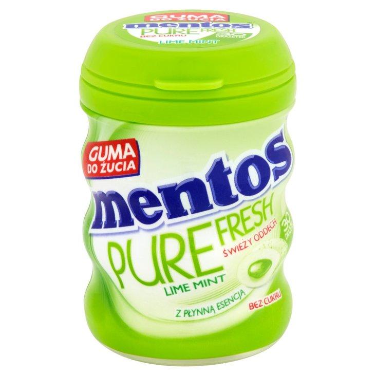 Mentos Pure Fresh Lime Mint Guma do żucia bez cukru 60 g (30 sztuk) (1)