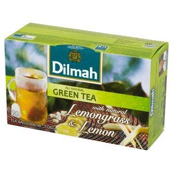 Dilmah Zielona herbata z trawą cytrynową i naturalnym aromatem cytryny 30 g (20 torebek) (1)