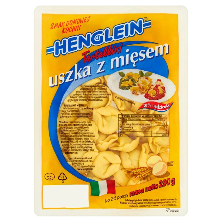 Henglein Tortellini uszka z mięsem 250 g (1)
