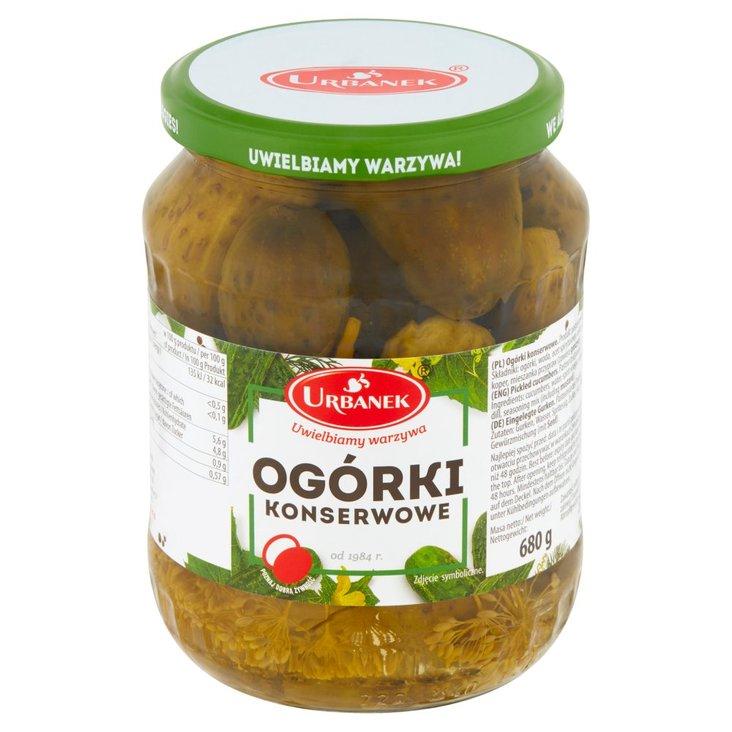 Urbanek Ogórki konserwowe 680 g (1)