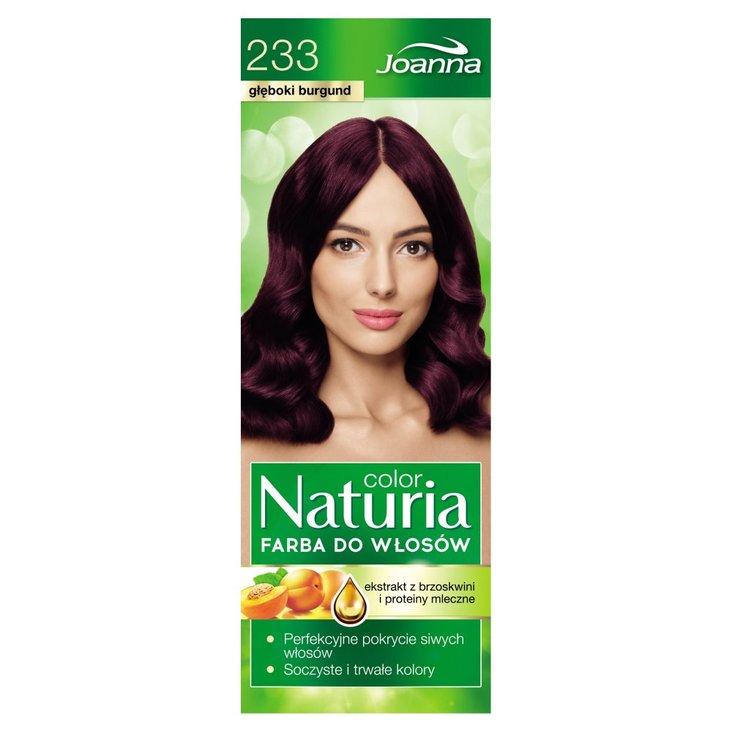 Joanna Naturia color Farba do włosów głęboki burgund 233 (2)