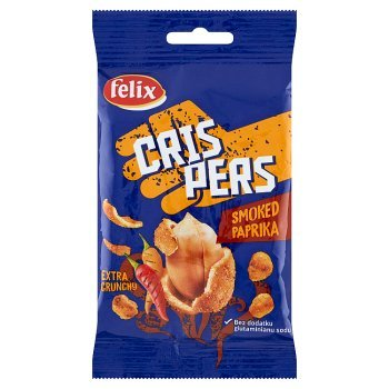 Felix Crispers Orzeszki ziemne smażone w chrupkiej skorupce o smaku paprykowym 70 g (1)
