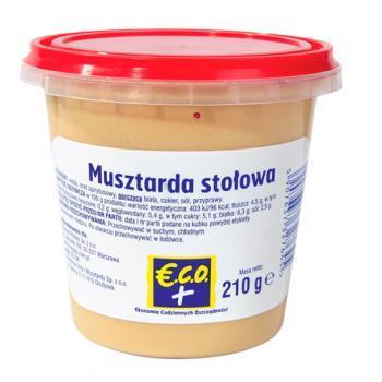 €.C.O.+  Musztarda stołowa 210g (1)