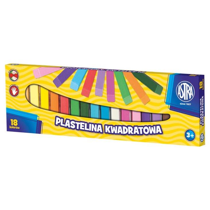 Astra Plastelina kwadratowa 18 kolorów (1)