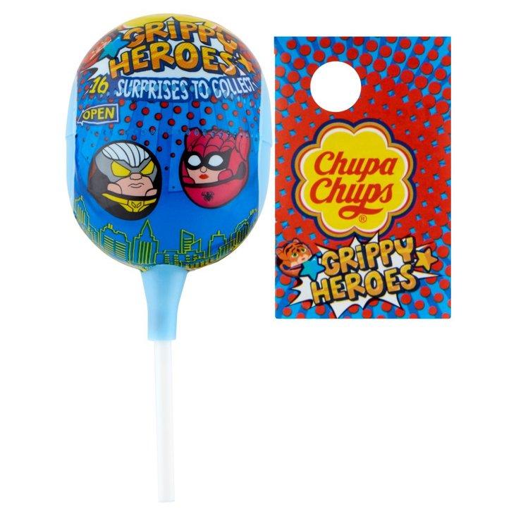 Chupa Chups Grippy Heroes Lizak o smaku truskawkowym 12 g (1)