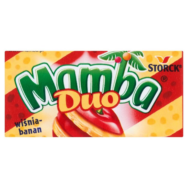 Mamba Duo wiśnia-banan Gumy rozpuszczalne 26,5 g (6 sztuk) (1)