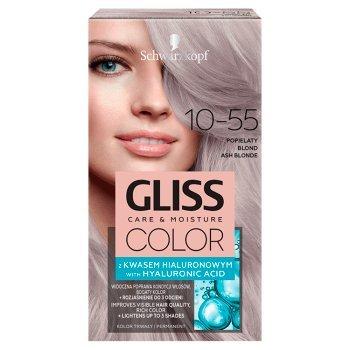 Schwarzkopf Gliss Color Farba do włosów popielaty blond 10-55 (1)