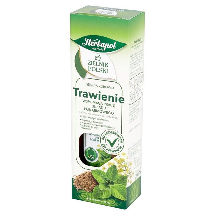 Herbapol Zielnik Polski Trawienie Syrop owocowo-ziołowy 200 ml (1)