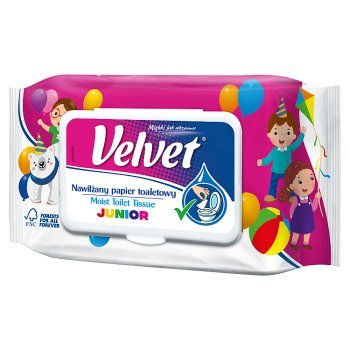 Velvet Junior Nawilżany papier toaletowy 42 sztuki (1)