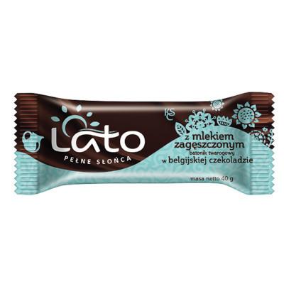 Lato baton twarogowy Belgijska czekolada z mlekiem skondensowanym 40g (1)