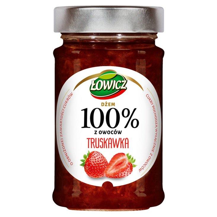 Łowicz Dżem 100% z owoców truskawka 220 g (1)