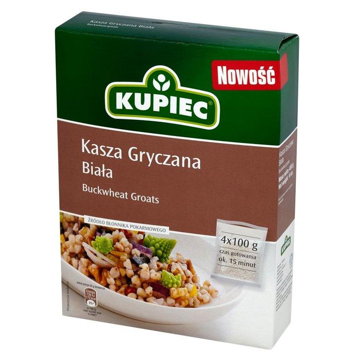 Kupiec Kasza gryczana biała 400 g (4 torebki) (1)