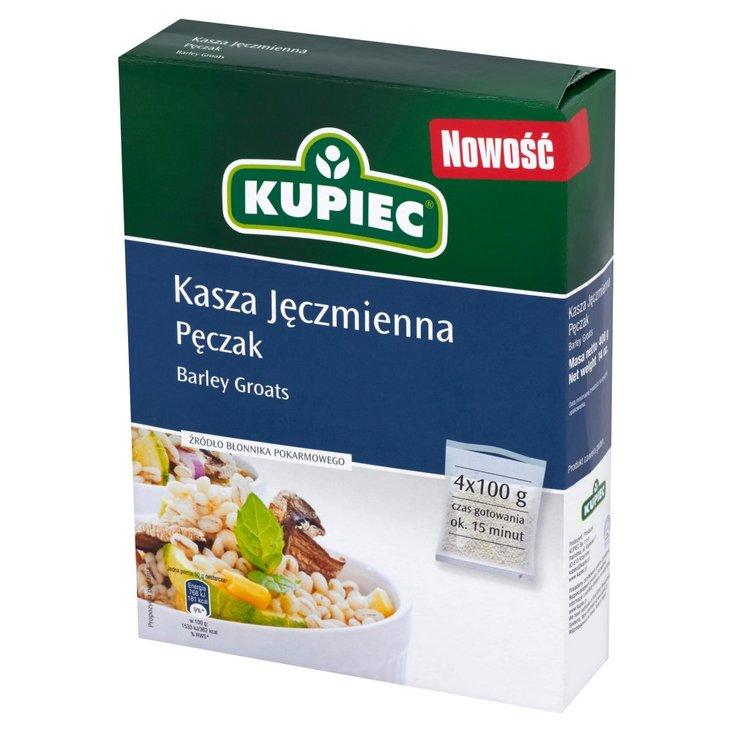 Kupiec Kasza jęczmienna pęczak 400 g (4 torebki) (1)