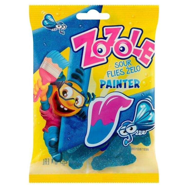 Zozole Painter Kwaśne żelki barwiące język o malinowym smaku 75 g (1)
