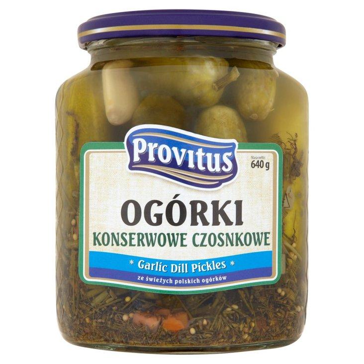 Provitus Ogórki konserwowe czosnkowe 640 g (2)