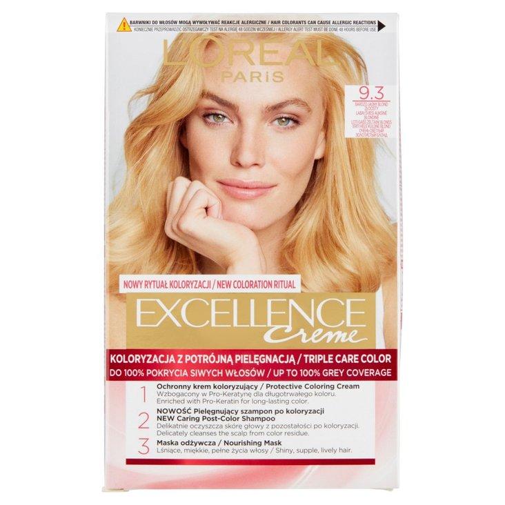 L'Oréal Paris Excellence Farba do włosów bardzo jasny blond złocisty 9.3 (2)
