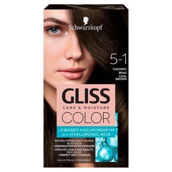 Schwarzkopf Gliss Color Farba do włosów chłodny brąz 5-1 (1)