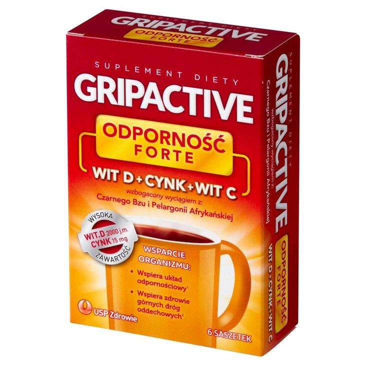 Gripactive Odporność Forte Suplement diety 18 g (6 x 3 g) (1)