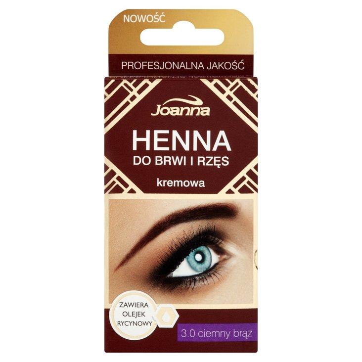Joanna Henna do brwi i rzęs kremowa 3.0 ciemny brąz (2)