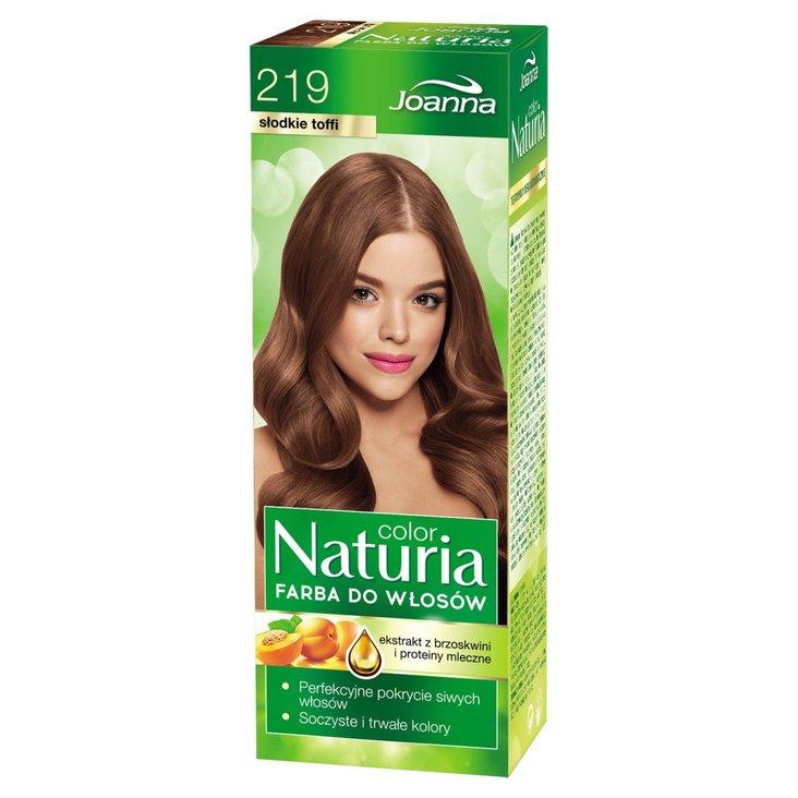 Joanna Naturia color Farba do włosów słodkie toffi 219 (1)