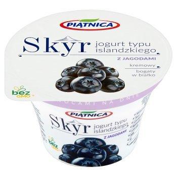 Piątnica Skyr Jogurt typu islandzkiego z jagodami 150 g (1)