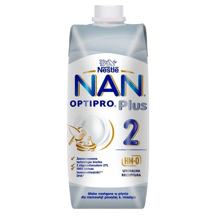 NAN OPTIPRO Plus 2 HM-O Mleko następne w płynie dla niemowląt po 6. miesiącu 500 ml (1)