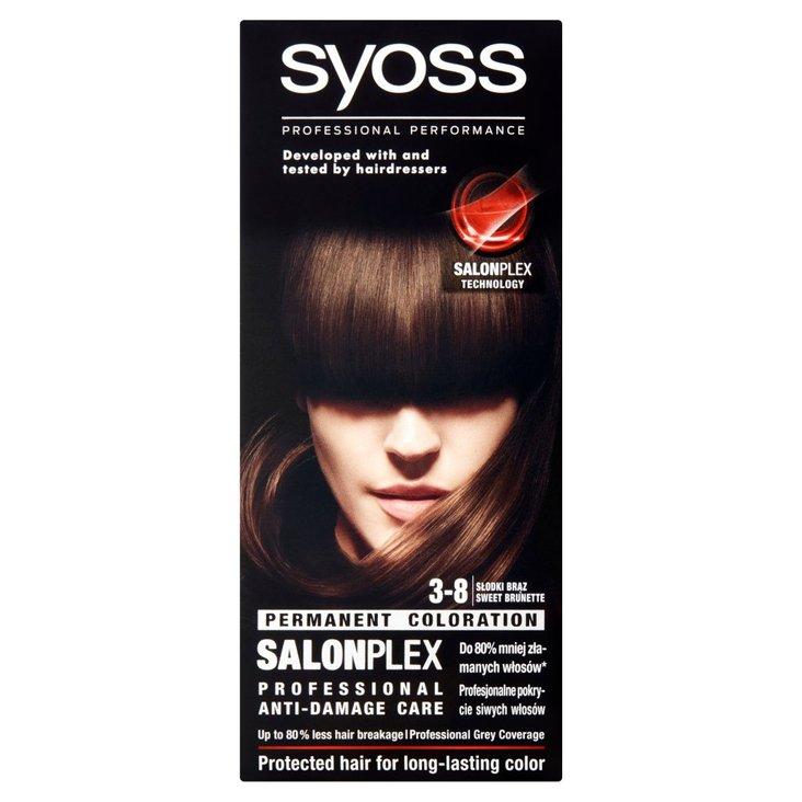 Syoss SalonPlex Farba do włosów słodki brąz 3-8 (2)