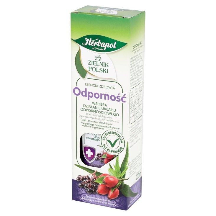 Herbapol Zielnik Polski Odporność Syrop owocowy 200 ml (1)