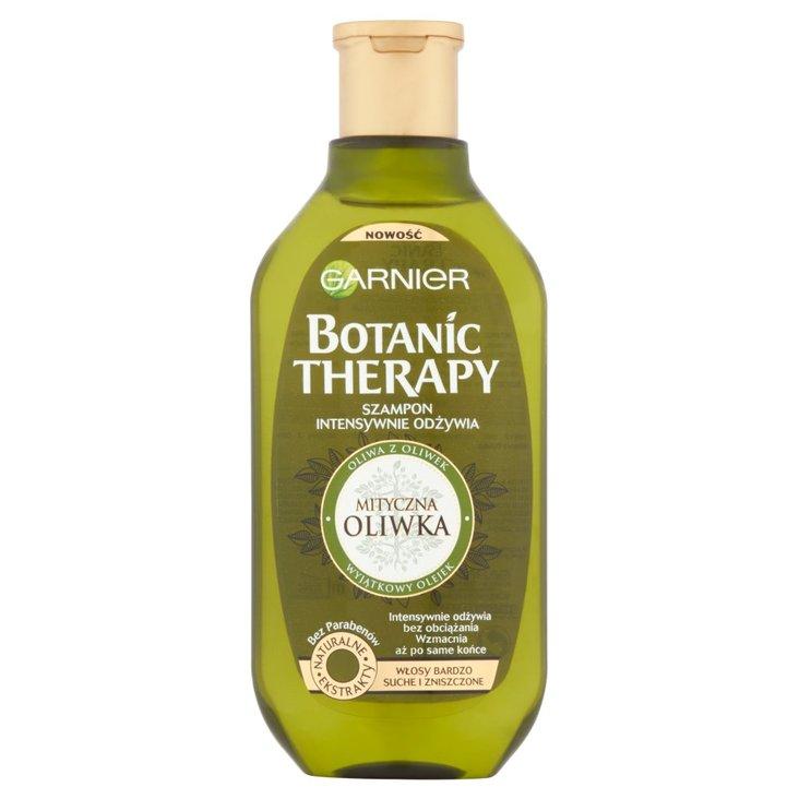 Garnier Botanic Therapy Szampon do włosów bardzo suchych i zniszczonych Mityczna oliwka 400 ml (1)