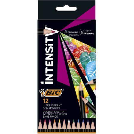 Bic Kredki ołówkowe Intensity Premium w pudełku 12 kolorów (1)