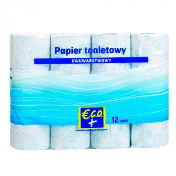 €.C.O.+  Papier toaletowy dwuwarstwowy 12rolek (1)