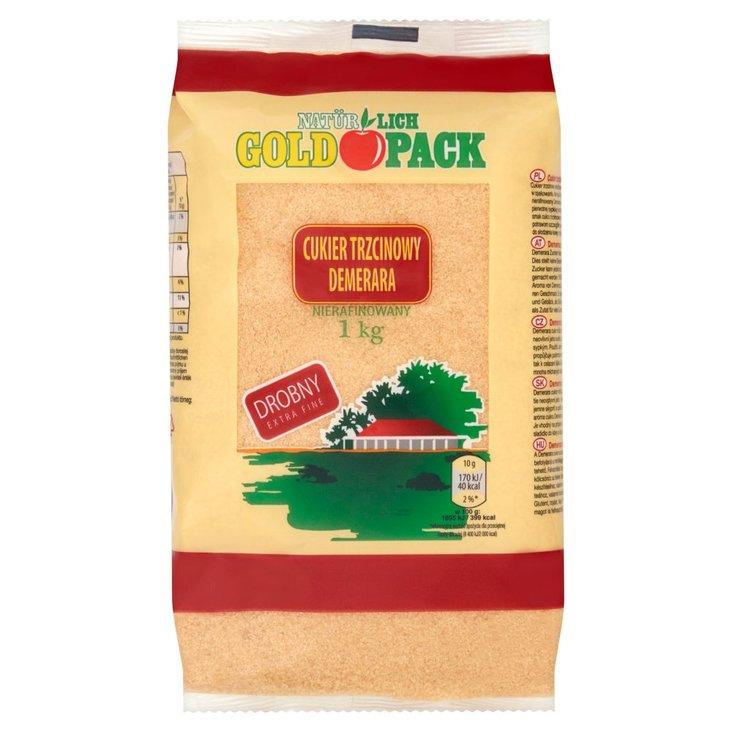 Gold Pack Cukier trzcinowy Demerara nierafinowany drobny 1 kg (1)