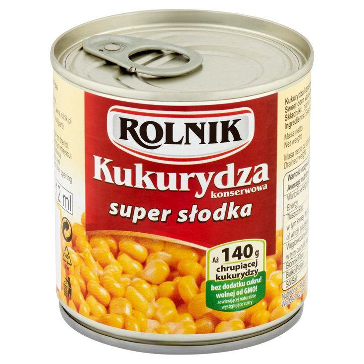 Rolnik Kukurydza konserwowa super słodka 150 g (1)