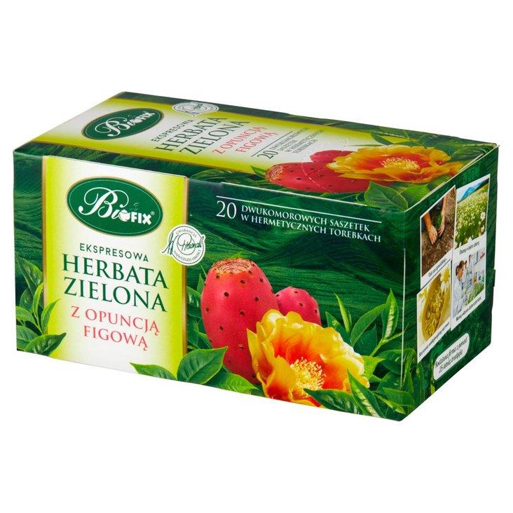 Bifix Herbata zielona ekspresowa z opuncją figową 40 g (20 x 2 g) (1)