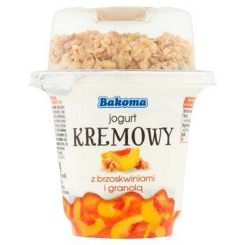 Bakoma Jogurt kremowy z brzoskwiniami i granolą 230 g (2)