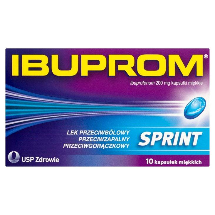 Ibuprom Sprint 200 mg Kapsułki miękkie 10 kapsułek (2)