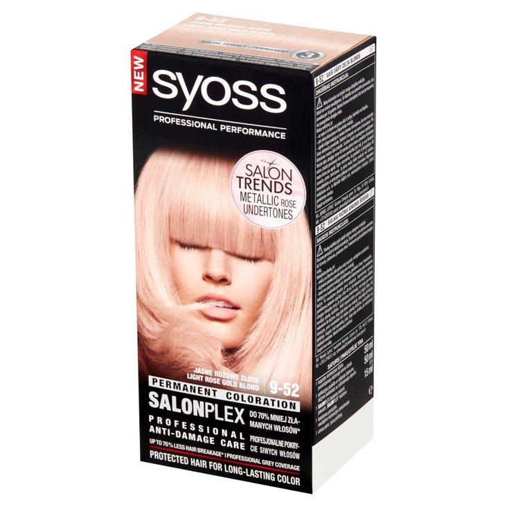 Syoss SalonPlex Farba do włosów jasne różowe złoto 9-52 (1)